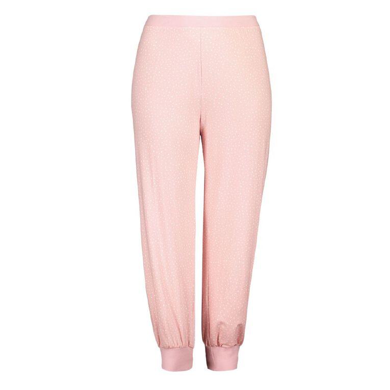 H&H Cosy Curvy Women's Stretch Pyjama Pants, Pink, hi-res