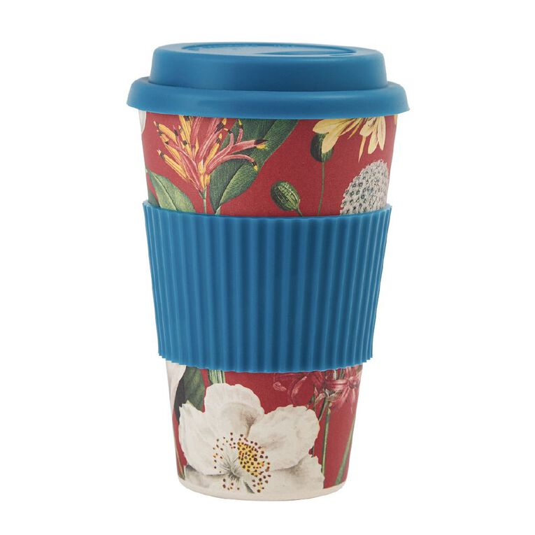 Living & Co Bamboo Travel Cup Floral Fun 500ml, , hi-res image number null