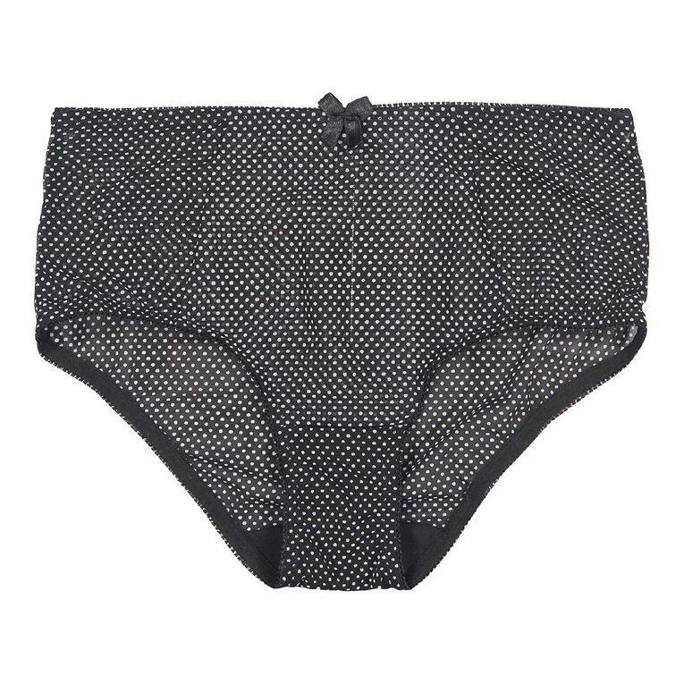 H&H Women's Jewel Maxi Briefs, Black W21 Spots, hi-res