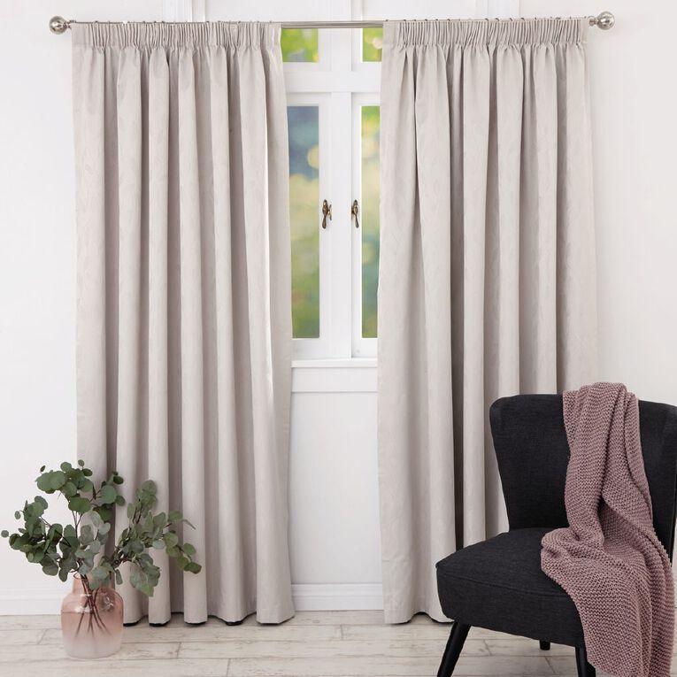 Living & Co Willow Curtains Natural 230-330cm Wide/205cm Drop, Natural, hi-res