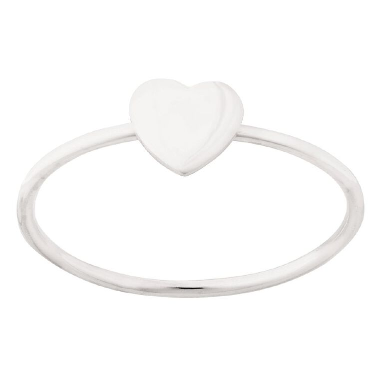 Sterling Silver Heart, Sterling Silver, hi-res image number null