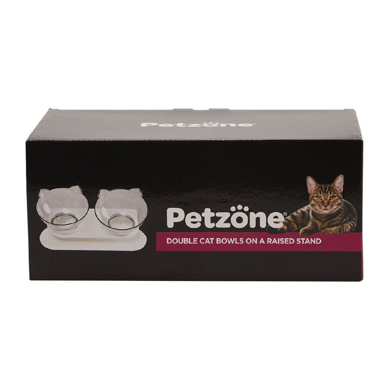 Petzone Double Cat Bowls On A Raised Stand, , hi-res