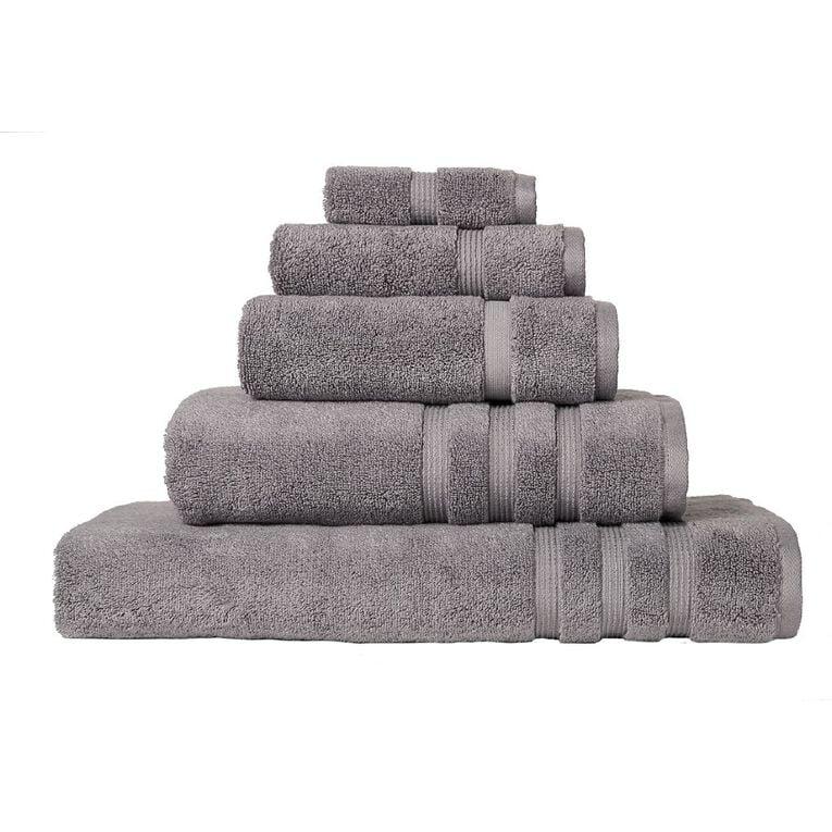 Living & Co Montreal Hand Towel Alloy Grey 40cm x 65cm, Grey, hi-res