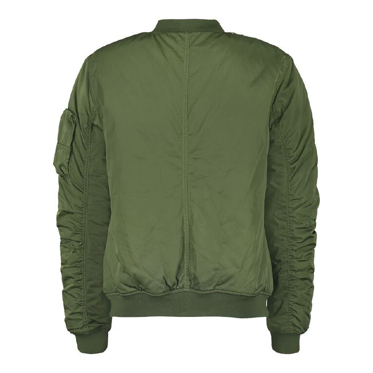 Garage Bomber Jacket, Khaki, hi-res