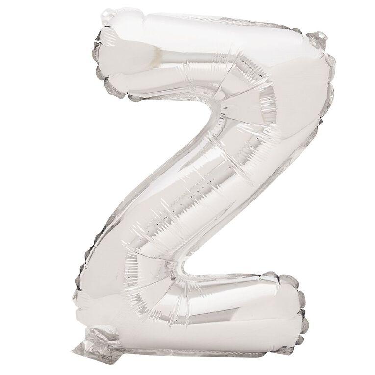 Artwrap Foil Balloon Z Silver 35cm, , hi-res
