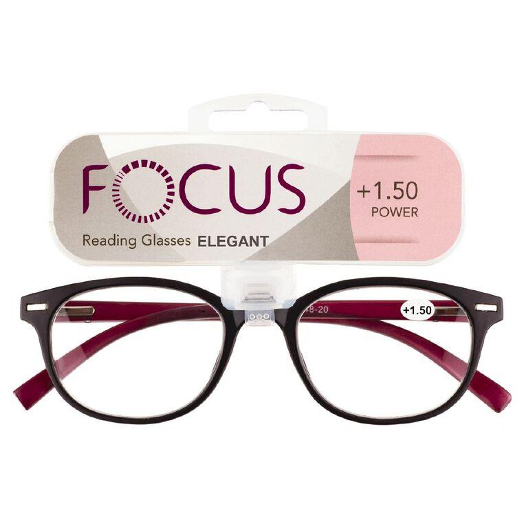 Focus Reading Glasses Elegant Power 1.50, , hi-res
