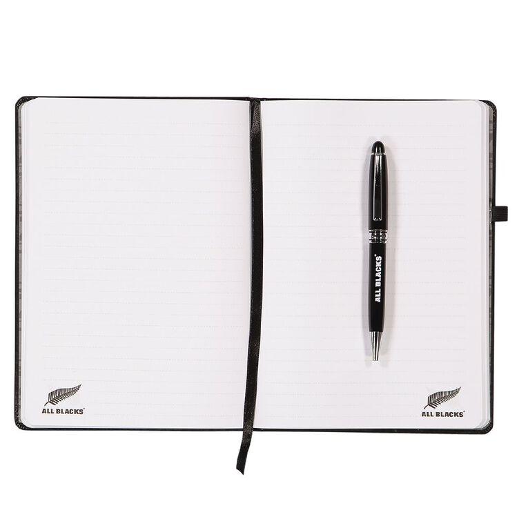 All Blacks PU Notebook & Pen Set Black A5, , hi-res