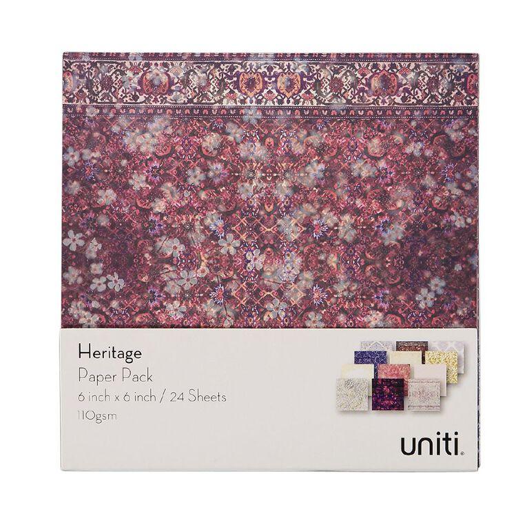 Uniti Heritage Paper Pad 6x6 Inch 24 Sheets, , hi-res