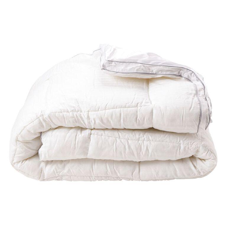 Living & Co Mattress Topper Ball Fibre White Queen, White, hi-res