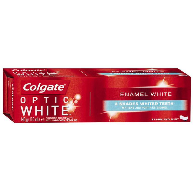 Colgate Toothpaste Optic White Enamel 140g, , hi-res
