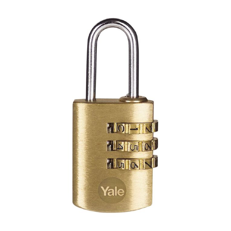 Yale Brass Combination Padlock 22MM, , hi-res