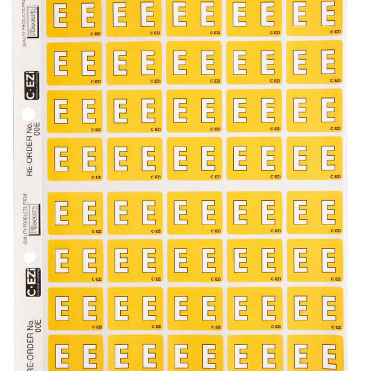 Filecorp Coloured Labels E Yellow, , hi-res