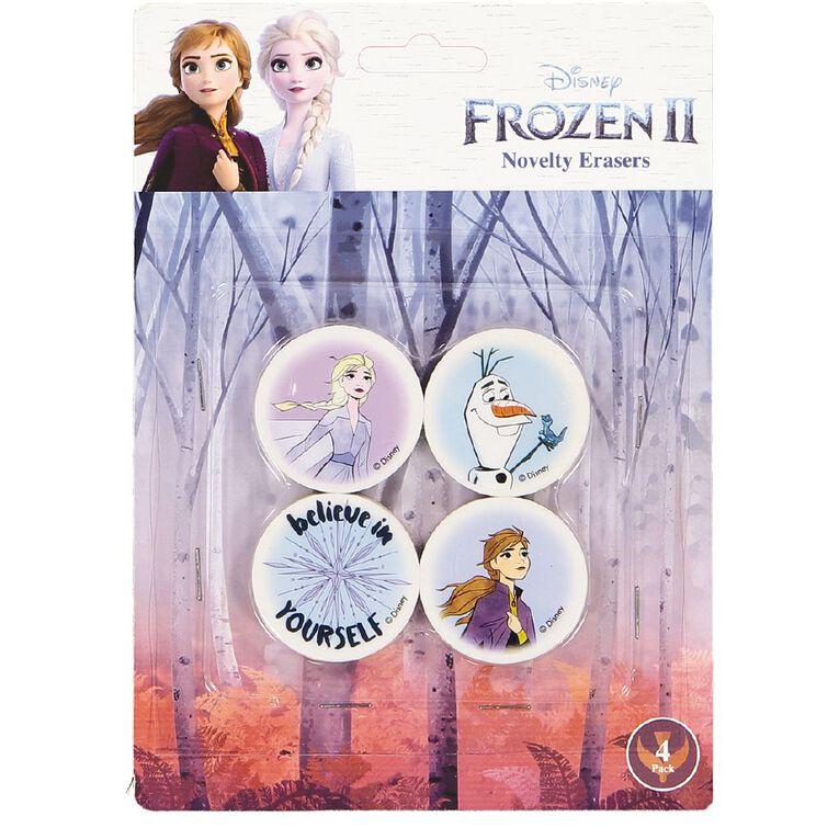 Frozen Disney Erasers 4 Pack Multi-Coloured, , hi-res