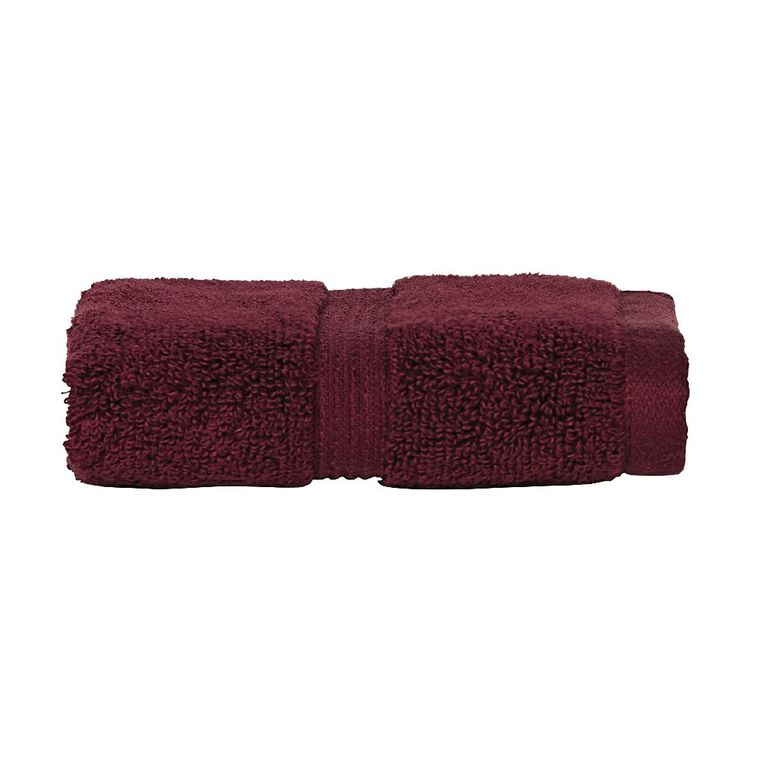 Living & Co Montreal Face Towel Wine Red Dark 30cm x 30cm, Red Dark, hi-res image number null
