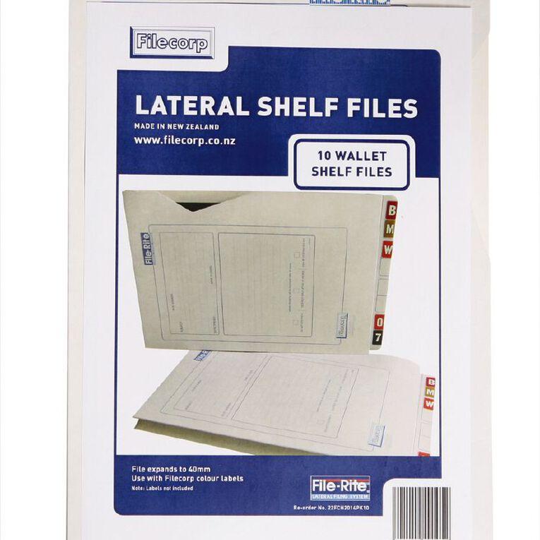 Filecorp 2014 Wallet Shelf File 10 Pack White, , hi-res