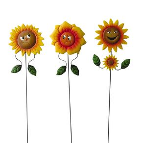 Kiwi Garden Sunflower Face Stake 60cm