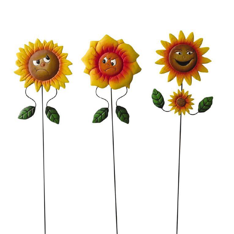 Kiwi Garden Sunflower Face Stake 60cm, , hi-res