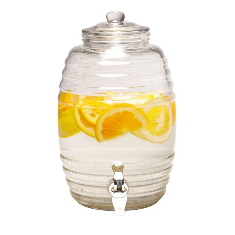 Living & Co Glass Drinks Dispenser 5.2L, , hi-res