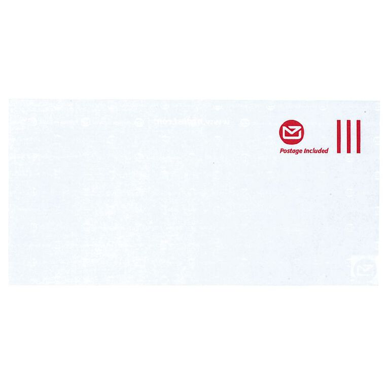 New Zealand Post DLE Envelope Prepaid Non Window 500 Pack, , hi-res