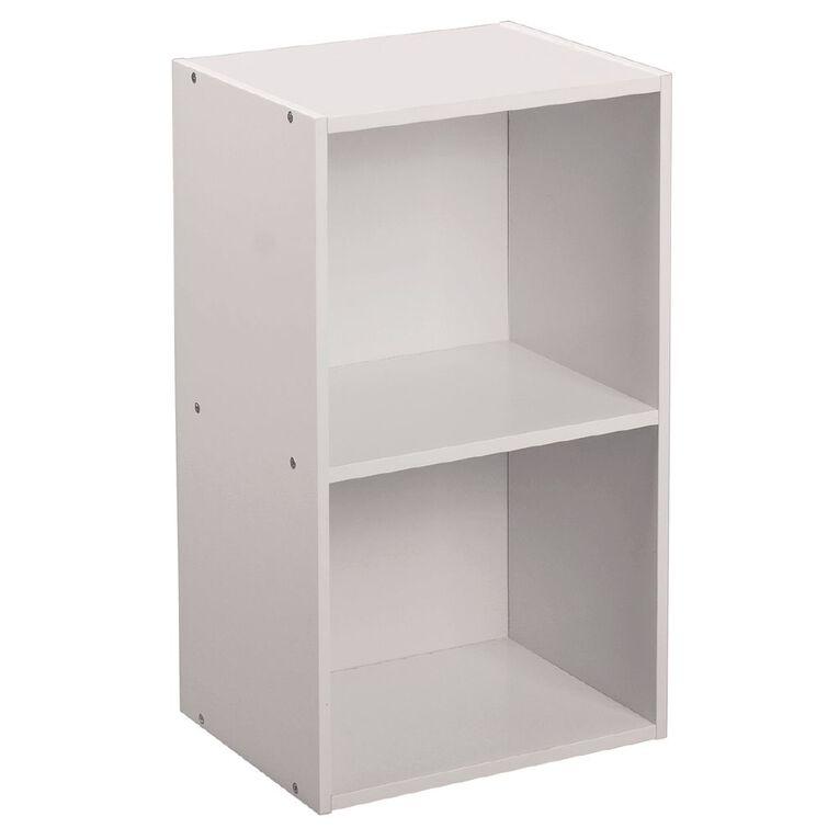 Living & Co Mia Bookcase 2 Tier White, , hi-res