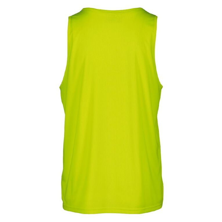 Active Intent Men's Cooldry Singlet, Yellow, hi-res image number null