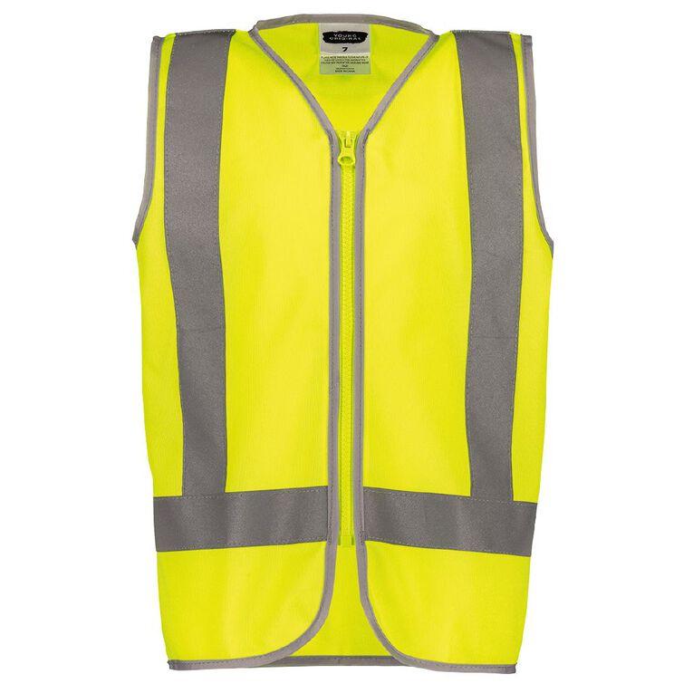 Young Original Kids' Hi Vis Vest, Yellow, hi-res image number null