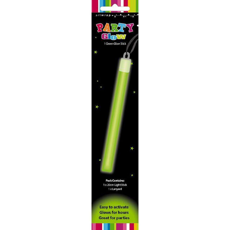 Artwrap Glow Stick Lanyard Green 20cm, , hi-res