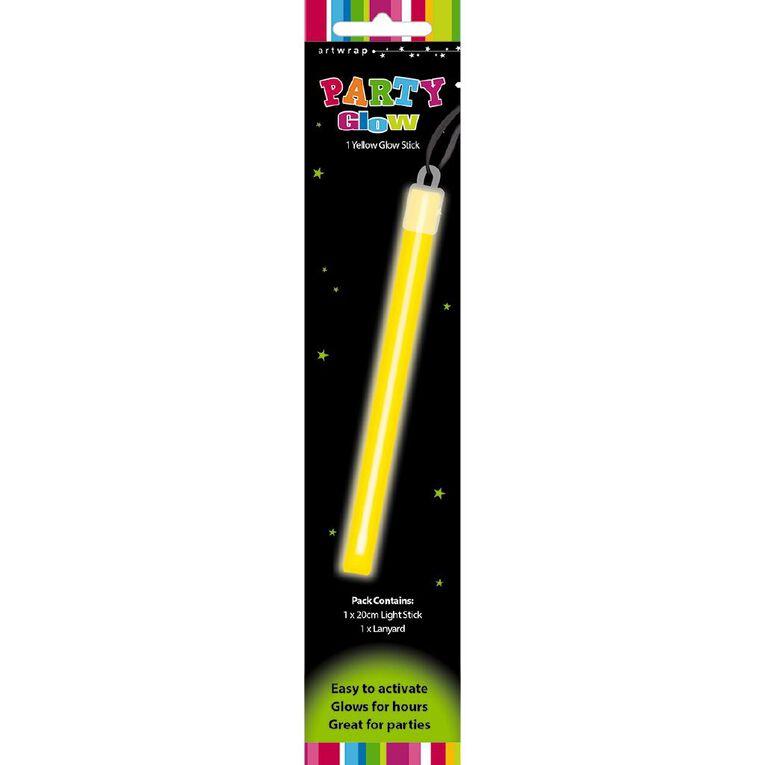 Artwrap Glow Stick Lanyard Yellow 20cm, , hi-res