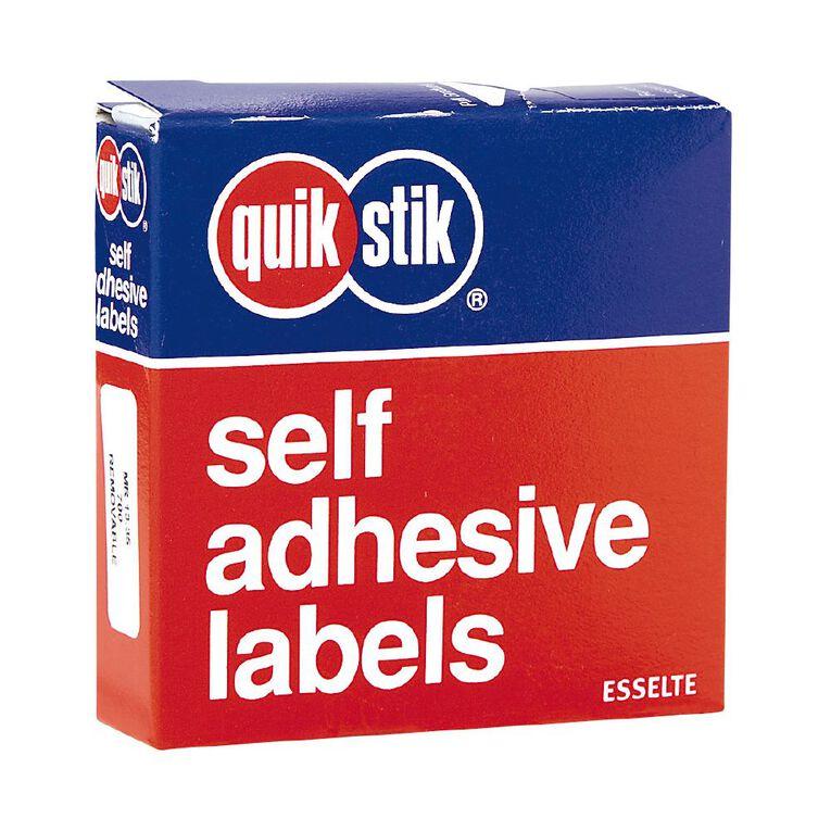 Quik Stik Labels Mr1335 13mm x 35mm 700 Pack White, , hi-res image number null