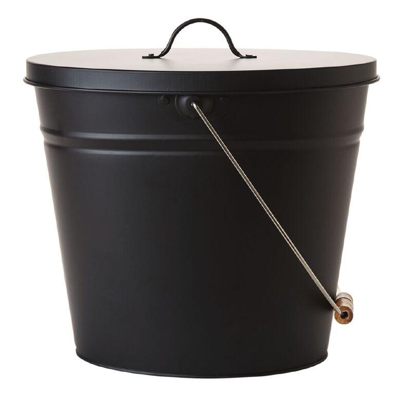 Living & Co Fireside Ash Bucket Black, , hi-res image number null