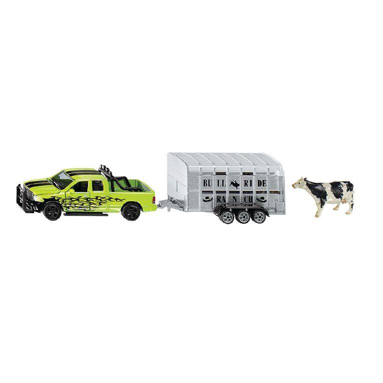 Siku 1:50 Dodge RAM 1500 Ute with Livestock Trailer, , hi-res