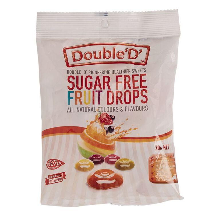 Double D Sugar Free Fruit Drops 70g, , hi-res