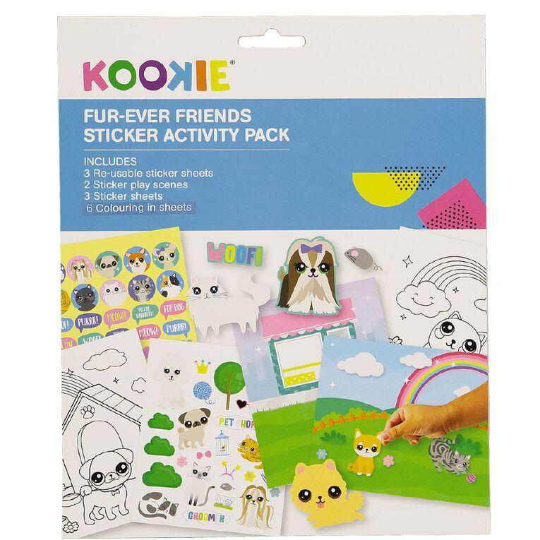 Kookie Sticker Activity Pad Furever Friends, , hi-res
