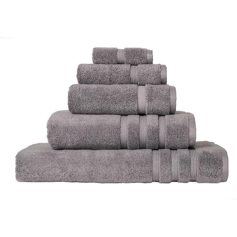 Living & Co Montreal Face Towel Alloy Grey 30cm x 30cm, Grey, hi-res