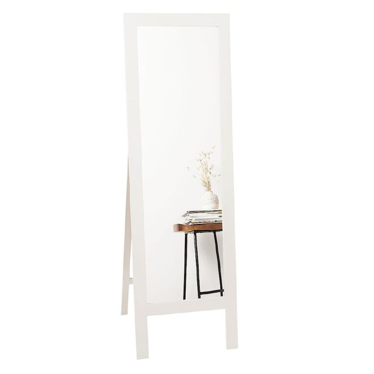 Living & Co Mirror Easel 50 x 160cm White, , hi-res