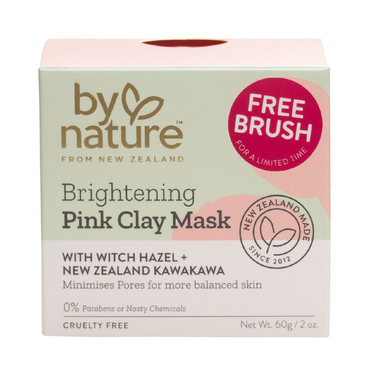 By Nature Brightening Pink Clay Mask 60g, , hi-res