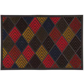 Living & Co Scrape N'Sorb Diamond Door Mat Multi-Coloured 60cm x 90cm