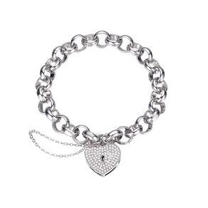 Mestige Swarovski Crystal Silver Plated Heart Throb Bracelet