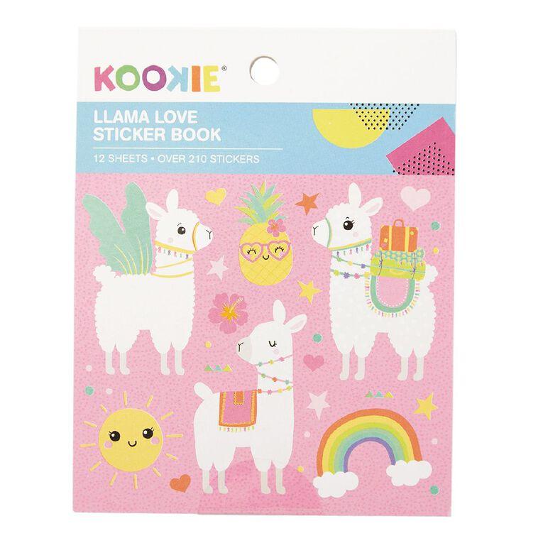 Kookie Mini Sticker Book 12 Sheets Llama Love, , hi-res