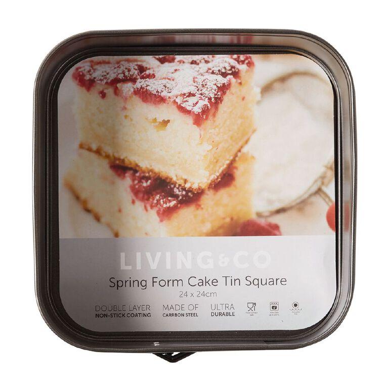 Living & Co Heavy Gauge Spring Form Cake Pan Square, , hi-res