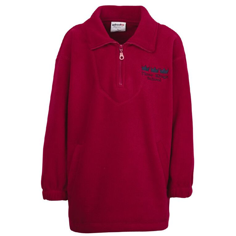 Schooltex Three Kings Polar Fleece Top with Embroidery, Red, hi-res