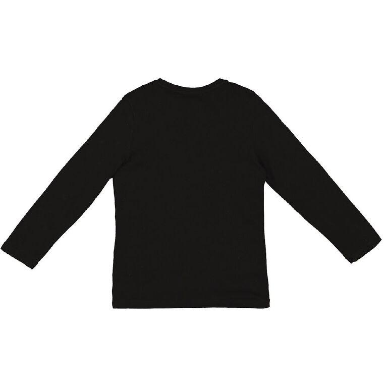 Young Original Long Sleeve Print Tee, Black, hi-res