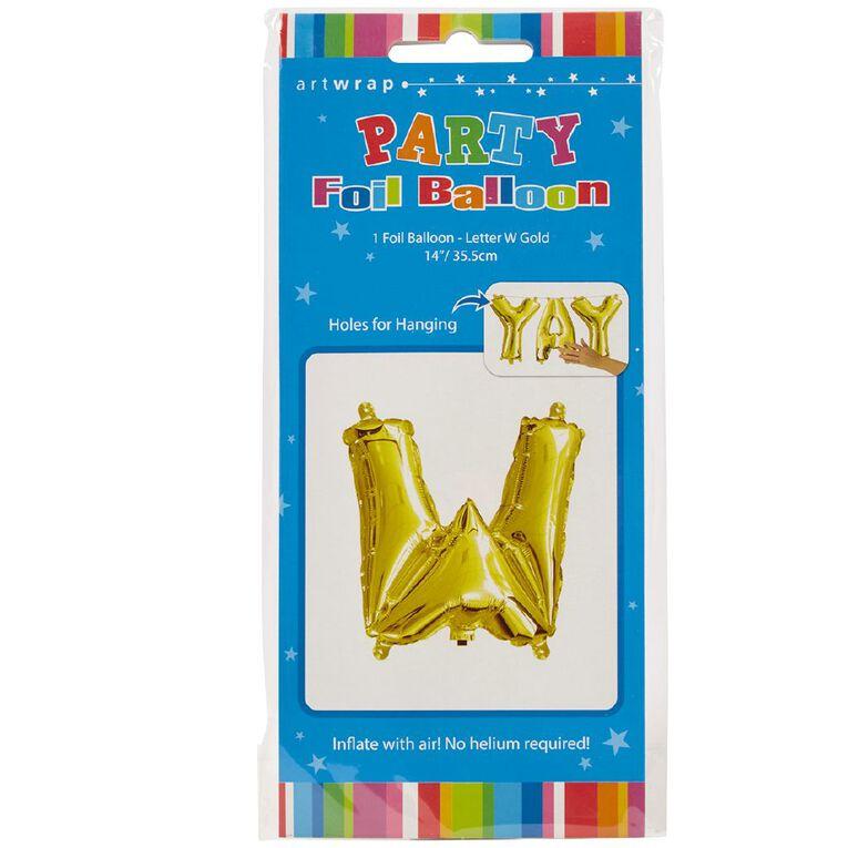 Artwrap Foil Balloon W Gold 35cm, , hi-res