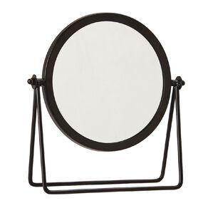 Living & Co Round Vanity Mirror Black 18cm x 21cm