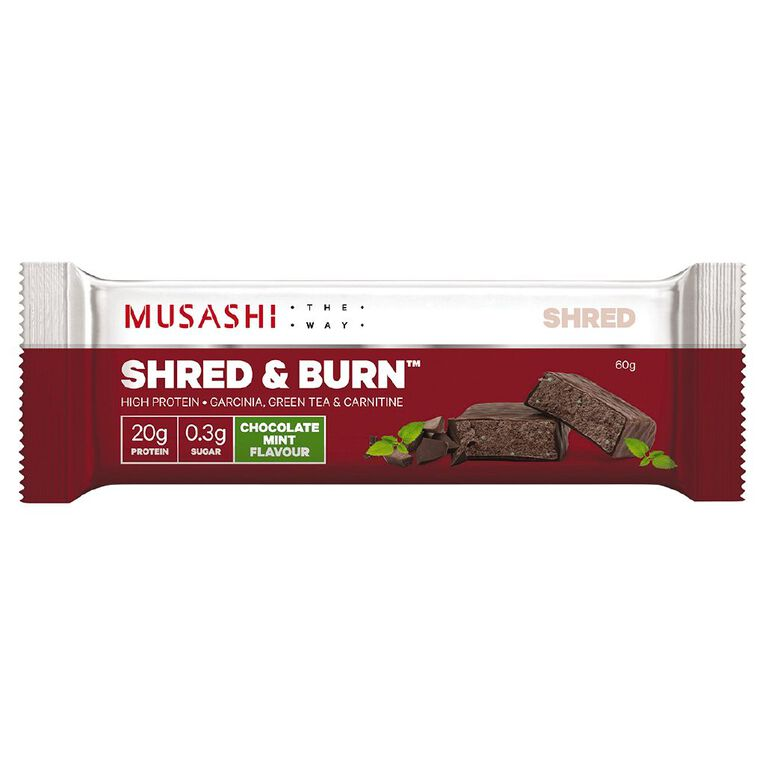 Musashi Shred & Burn-Dark Choc Mint Bar, , hi-res
