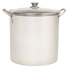 Living & Co Stainless Steel Stockpot Silver 15L