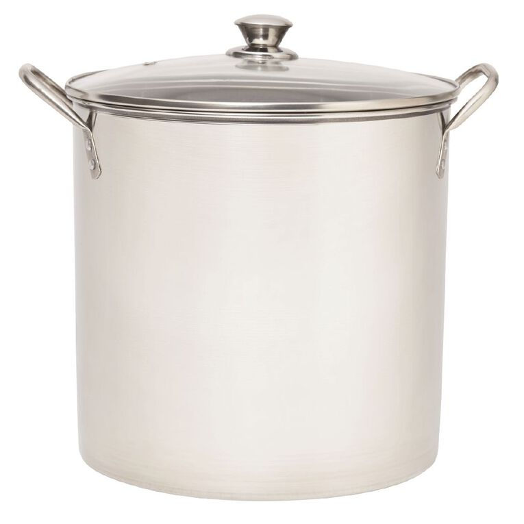 Living & Co Stainless Steel Stockpot Silver 15L, , hi-res