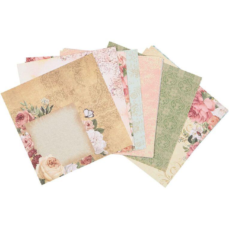 Uniti Designer Paper 6x6 24 Sheets Floral, , hi-res