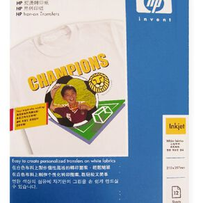 HP Iron On Transfer C6065A 12 Pack