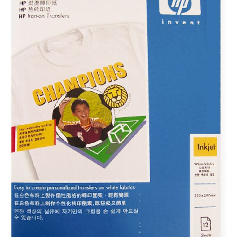 HP Iron On Transfer C6065A 12 Pack, , hi-res